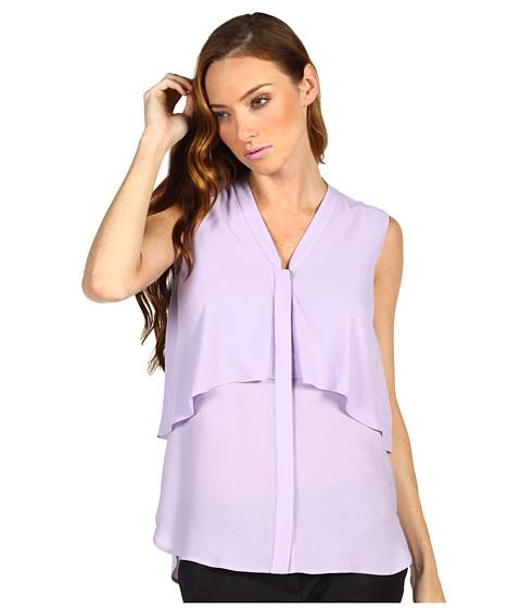 Camasi Tibi - Gauzy Twill Draped Blouse - Lavender