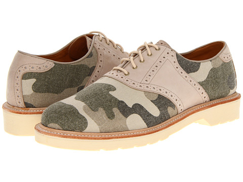 Pantofi Dr. Martens - Dillan Brogue Saddle - Beige Washed Out/Beige/Camo Canvas