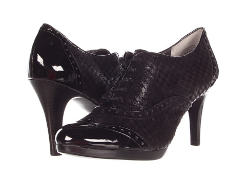 Pantofi Anne Klein - Werner - Black Herringbone Leather