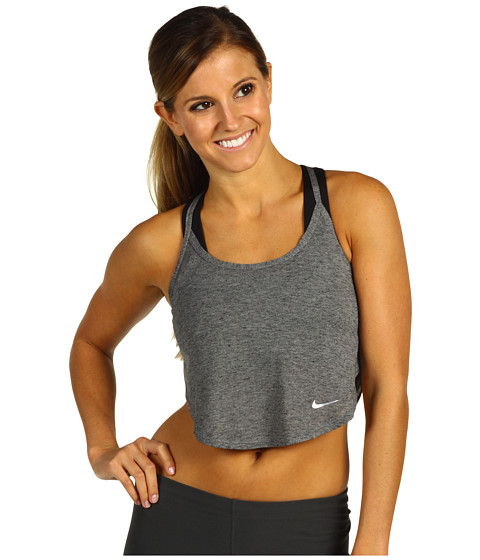 Bluze Nike - New Rule Top - Dark Grey Heather/Matte Silver