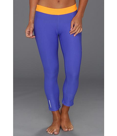 Pantaloni Nike - Relay Crop - Violet Force/Bright Citrus/Matte Silver