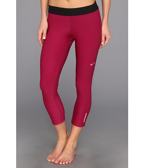 Pantaloni Nike - Relay Crop - Raspberry Red/Black/Matte Silver