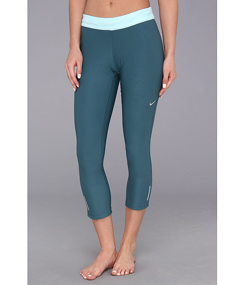 Pantaloni Nike - Relay Crop - Night Factor/Glacier Ice/Matte Silver