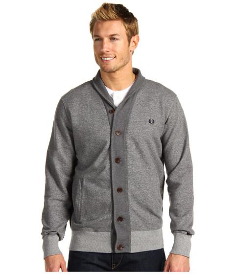 Bluze Fred Perry - Shawl Collar Button Through Sweat Cardigan - Grey Marl