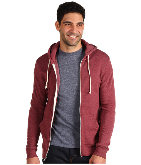 Bluze Alternative Apparel - Rocky Zip Hoodie - Eco True Burgundy