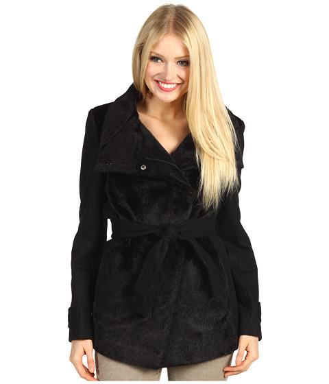 Jachete Betsey Johnson - Mixed Media Jacket w/ Faux Fur - Black