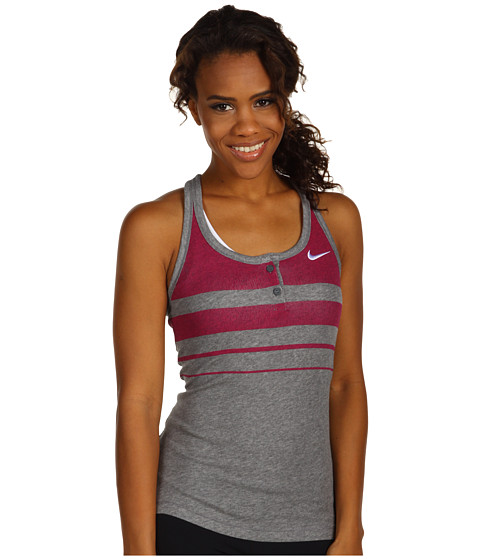 Tricouri Nike - Dri-Fit Cotton Graphic Knit Tank - Carbon Heather/Carbon Heather/White