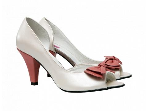 Pantofi Hotstepper - Pantofi Carry Ivory Peach - Ivoire