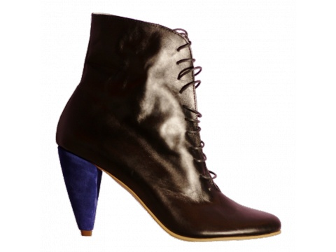 Botine Hotstepper - Botine Statement Black & Blue - Negru