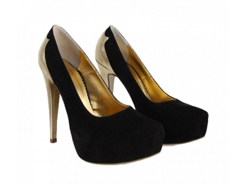 Pantofi Hotstepper - Pantofi Magnetic Chou Black&Gold 2 - Negru