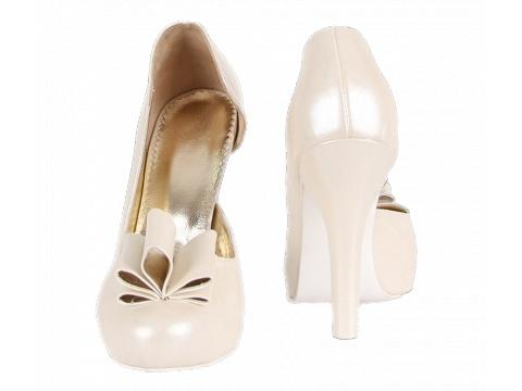 Pantofi Hotstepper - Pantofi Eve Vagues - Ivoire
