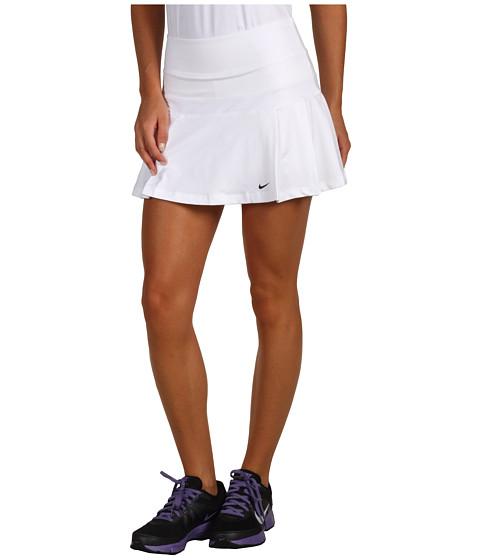 Fuste Nike - Pleated Knit Tennis Skirt - White/White/Black