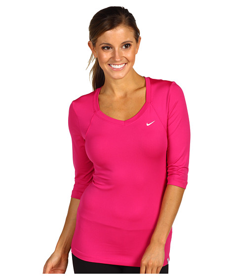 Tricouri Nike - 3/4 Sleeve Top - Fireberry/White