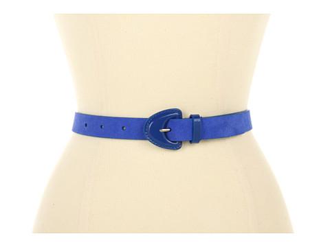"""Curele Jessica Simpson - 1\"""" Suede Panel Belt - Blue Ink"""