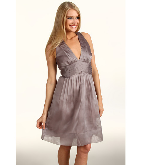 Rochii Max and Cleo - Diana Organza Halter Dress - Taupe Shell