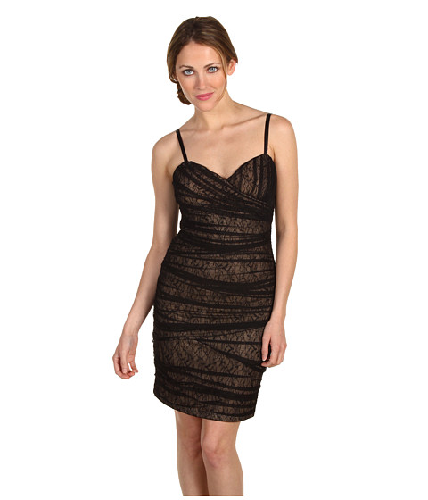 Rochii Max and Cleo - Samantha Lace Mesh Dress - Black