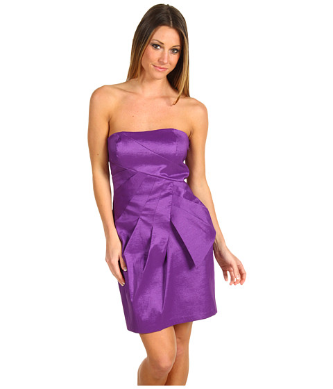 Rochii Max and Cleo - Strapless Dress W/Side Bow - Deep Plum