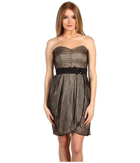 Rochii Max and Cleo - Strapless Lace Dress - Black Combo