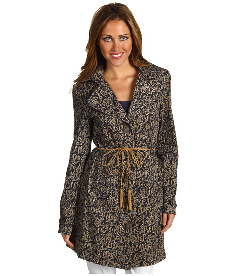 Jachete DEPT - Mini Floral Trench Coat - Midnight Blue