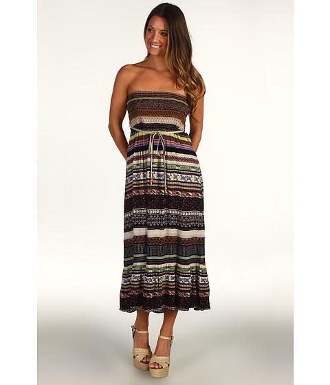 Fuste DEPT - Convertible Crinkle Printed Skirt/Dress - Black