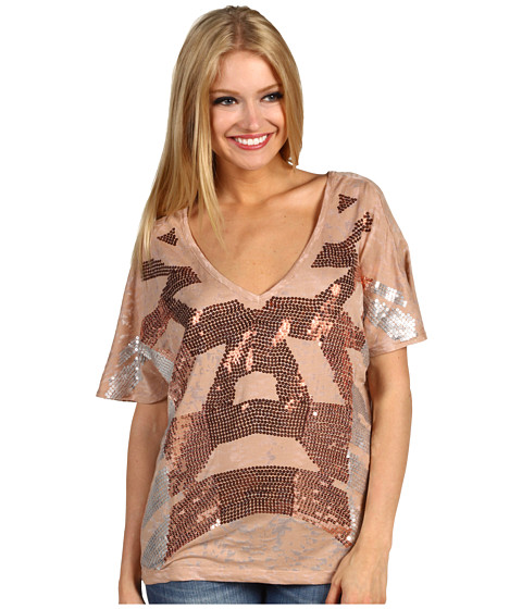 Bluze DEPT - Knitted Sequin Top - Nougat
