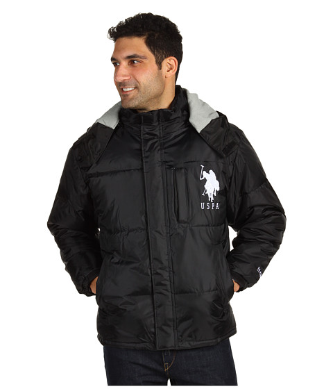 Jachete U.S. Polo Assn - Short Bubble Jacket w/ Big Pony - Black