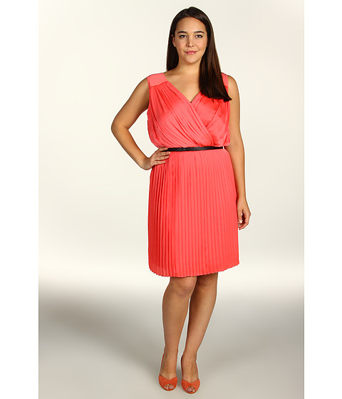 Rochii DKNY - Plus Size Pleated Crossfront Dress - Sunrise