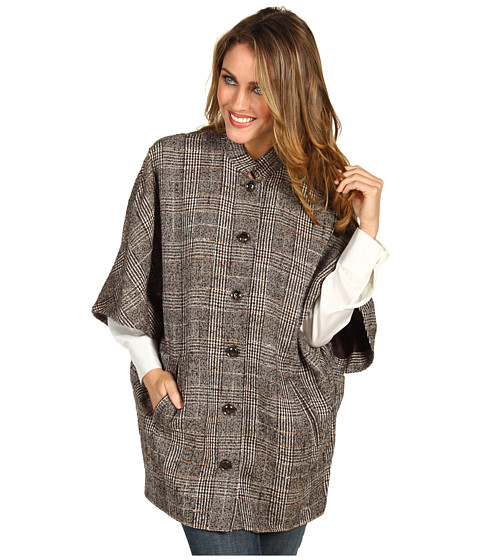 Jachete Anne Klein - Plaid Poncho - Chocolate Multi