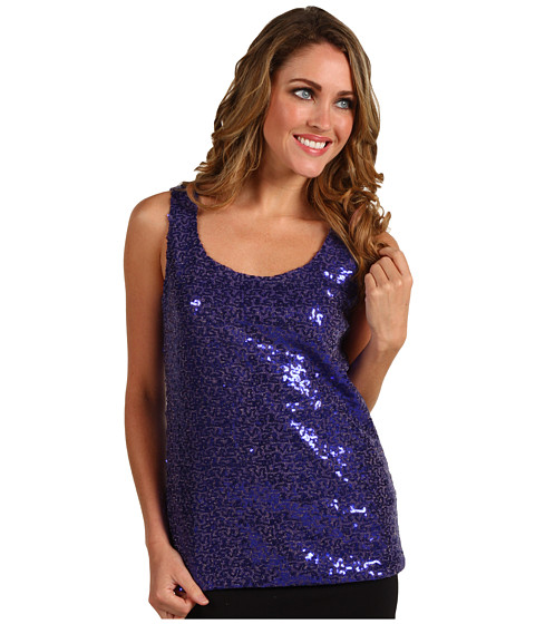 Bluze Anne Klein - Sequin Scoop Neck Tank Top - Violet