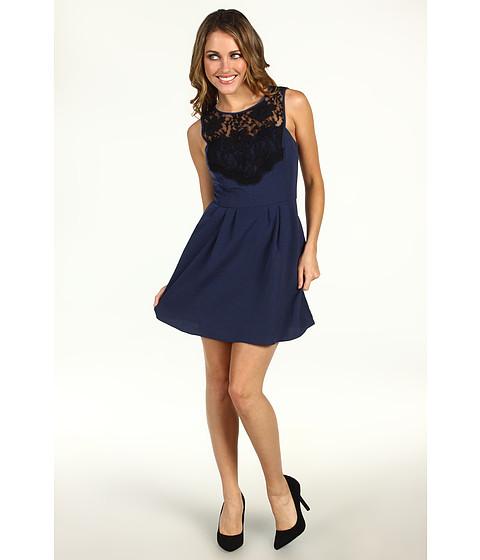 Rochii BCBGeneration - Lace Yoke Dress - Dark Navy