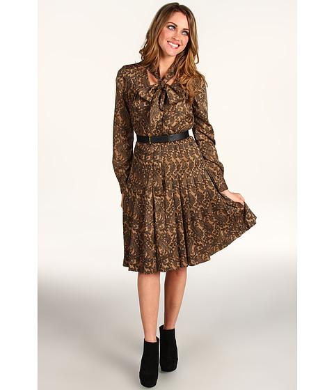 Rochii Anne Klein - Paisley Print Dress - Cappuccino/Black