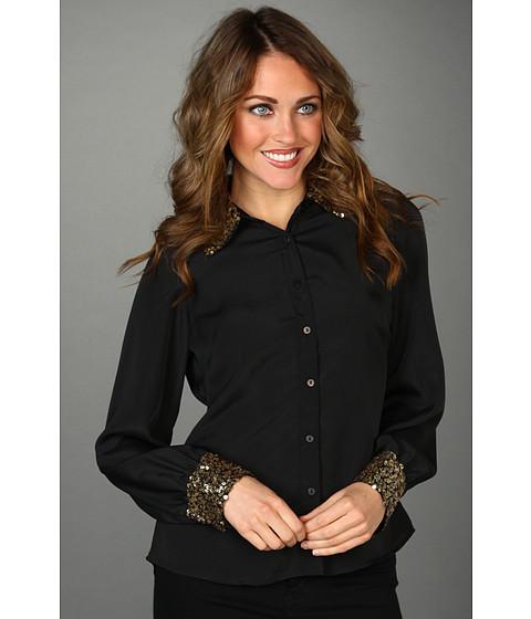 Bluze Christin Michaels - Natie Sequin Blouse - Black