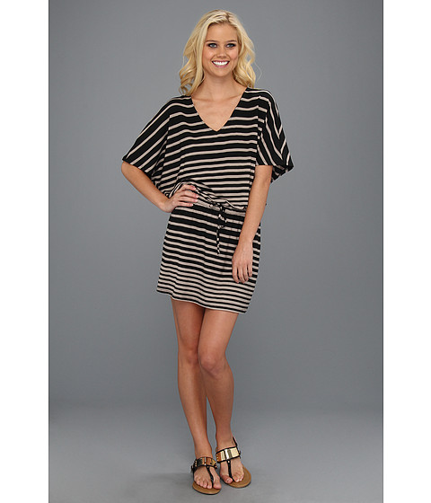 Rochii Michael Stars - Jude Stripe Dolman Dress - Taupe