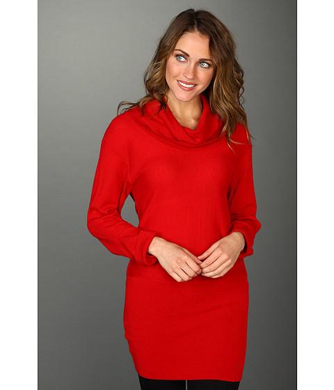 Bluze BCBGMAXAZRIA - Cashmere Cowl Neck Tunic Sweater - New Red