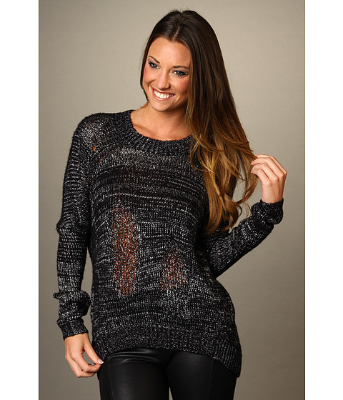 Bluze BCBGMAXAZRIA - Drop Shoulder Pullover - Black