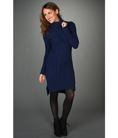 "Rochii BCBGMAXAZRIA - \""Nina\"" Cabled Sweater Dress - Dark Ink"