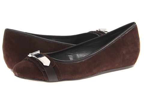 Balerini Calvin Klein - Izabella - Dark Brown Kid Suede/Calf