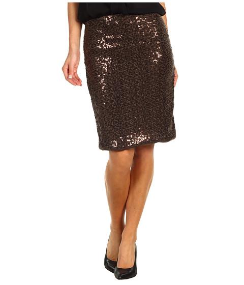 Fuste Anne Klein - Sequin Skirt - Chocolate Brown