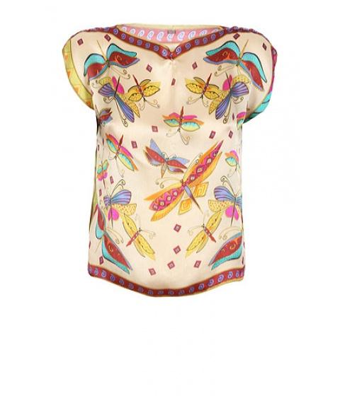 Bluze Get A Dress - Top Buterfly - Bej cu imprimeu