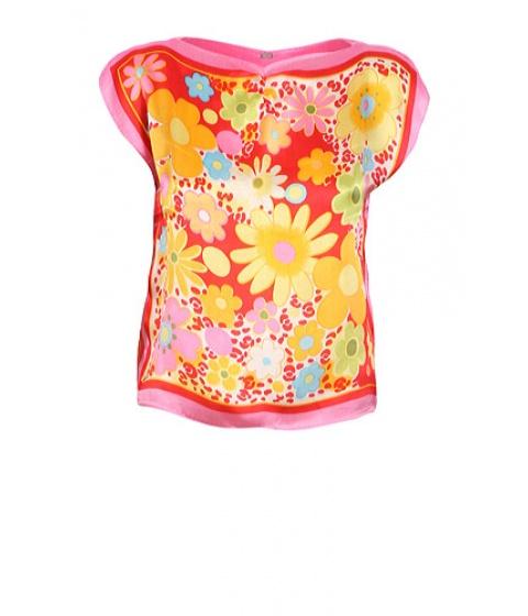 Bluze Get A Dress - Top Flowers - Rosu cu imprimeu