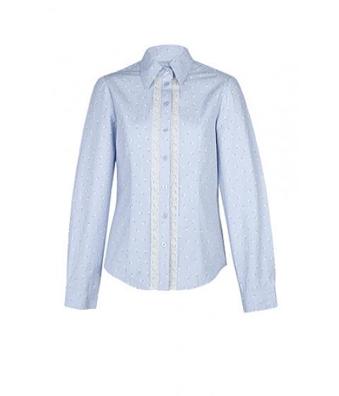 Camasi Elka Style - Camasa cu dantela - Bleu cu imprimeu flori