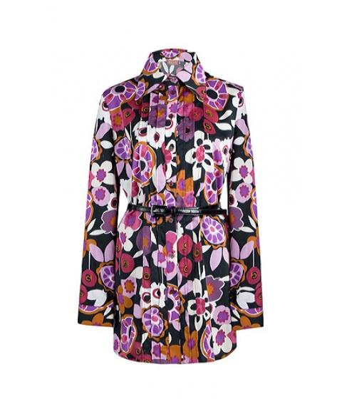 Camasi Elka Style - Camasa lunga cu imprimeu floral - Negru cu imprimeu floral