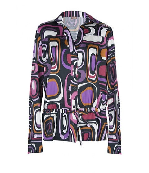 Camasi Elka Style - Camasa cu imprimeu geometric - Negru cu imprimeu geometric