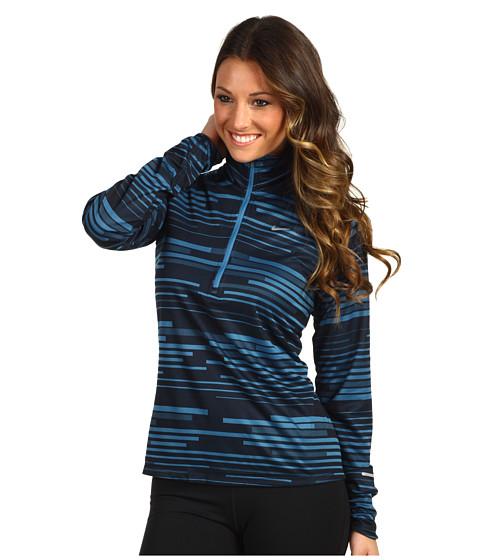 Bluze Nike - Nike Element Jacquard Half-Zip (P) - Shaded Blue/Dark Obsidian/Reflective Silver