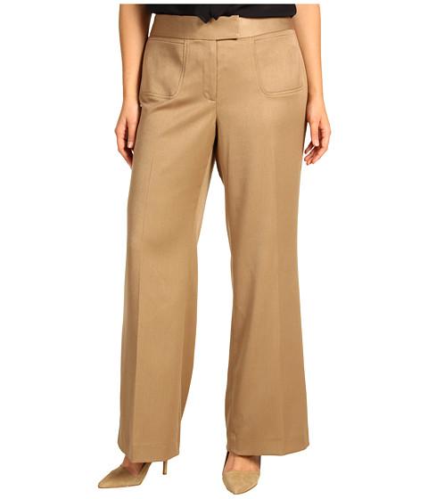 Pantaloni Anne Klein - Plus Size Wide Leg Pant - Cappuccino
