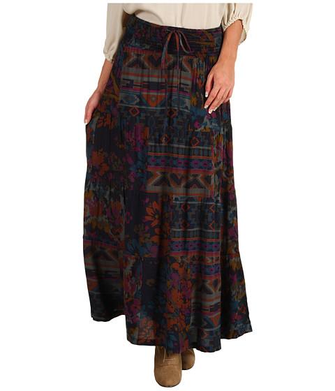 Fuste DEPT - Patchwork Modern Boho Skirt - Grey Green