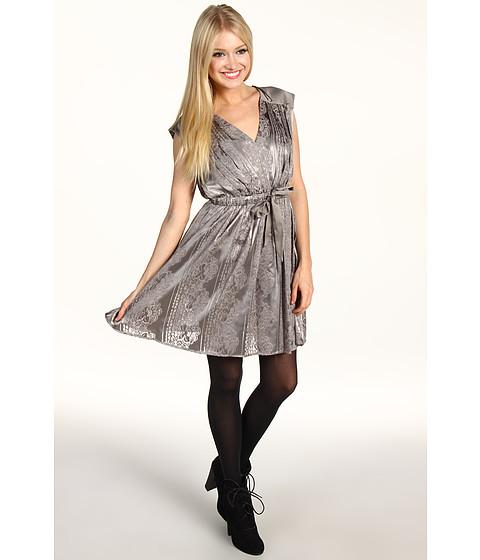 Rochii Jessica Simpson - Contrast Yoke V-Neck Dress - Falcon