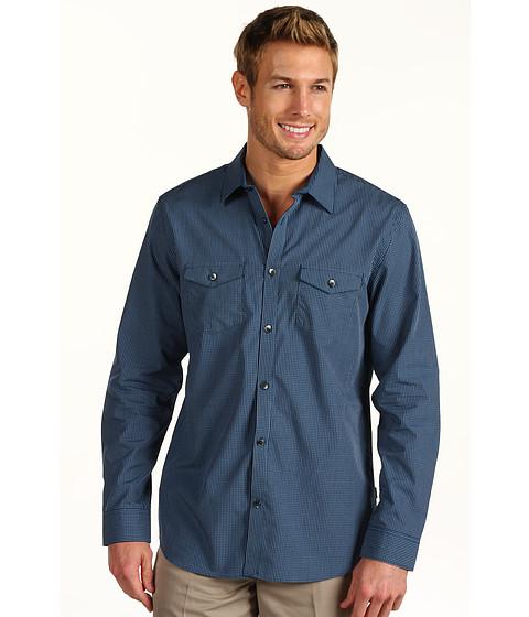 Tricouri Calvin Klein - L/S YD Shadow Check - Endurance Blue