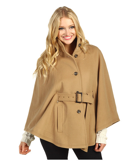 Jachete Cole Haan - Belted Wool Plush Cape - Camel