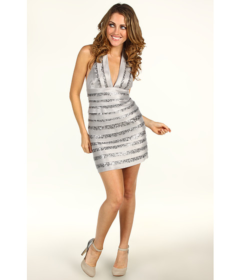 Rochii BCBGMAXAZRIA - Petite Vivica Evening Dress - Silver Combo